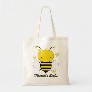 Honey Bee Book Tote Bag (Personalized)