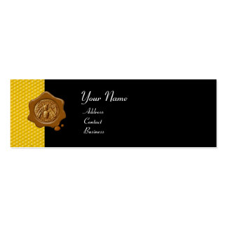HONEY BEE BROWN WAX SEAL / Cupid the Honey Thief Mini Business Card