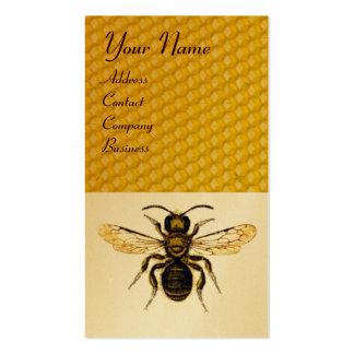 HONEY BEE BROWN WAX SEAL MONOGRAM ,BEEKEEPER BUSINESS CARD