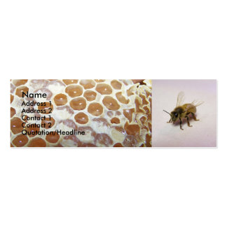 Honey Bee Double-Sided Mini Business Cards (Pack Of 20)