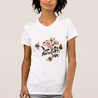 HONEY BEE ,BUTTERFLY AND WILD ROSES ,BEEKEEPER T SHIRTS