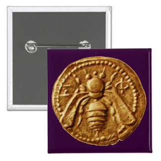 HONEY BEE 2 INCH SQUARE BUTTON