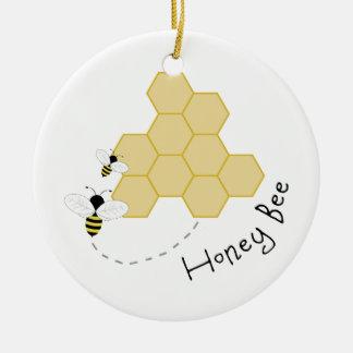Honey Bee Ceramic Ornament