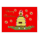 Honey bee Christmas card Italian honey bee apiary