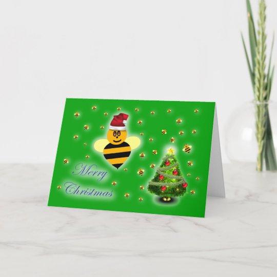 Honey bee christmas card italian honey bee apiary zazzle honey bee christmas card italian honey bee apiary m4hsunfo