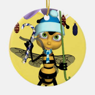 Honey Bee Christmas Ornament - Cute Honey Bee