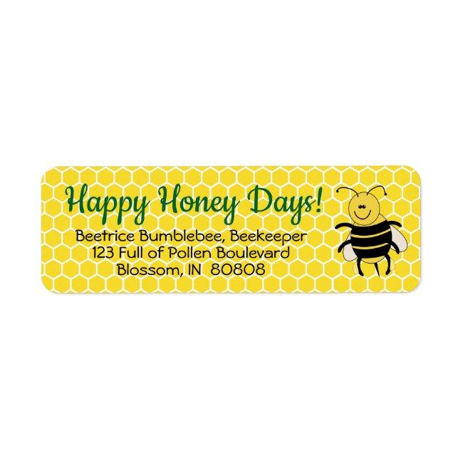 Honey Bee Christmas Return Address Labels Custom