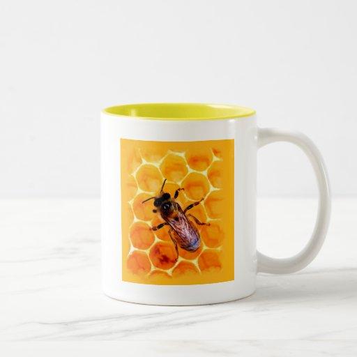 Honey bee coffee mugs