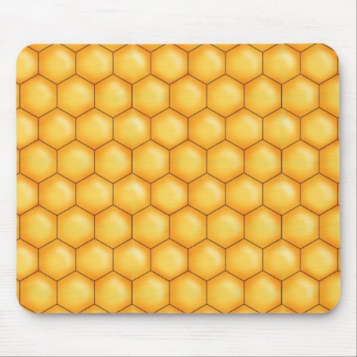honey bee comb texture mouse pad