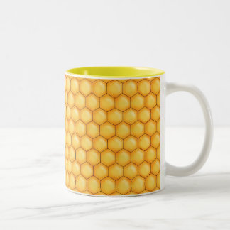 honey bee comb texture mugs