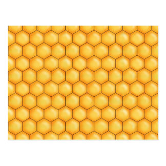 honey bee comb texture postcard