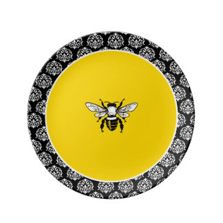 Honey Bee Dinner Plate