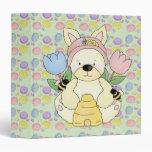 honey bee easter bunny rabbit 3 ring binder