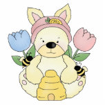 honey bee easter bunny rabbit acrylic cut outs