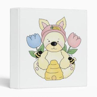 honey bee easter bunny rabbit binder