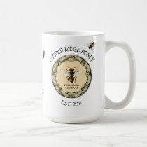 Honey Bee Farm Beekeeper Label Coffee Mug