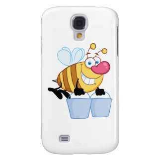 Honey Bee Flying With A Buckets Galaxy S4 Cover