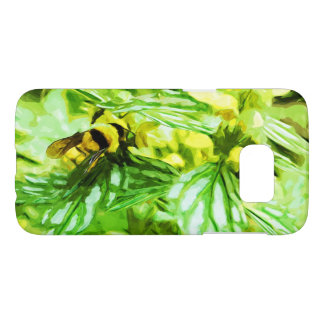 Honey Bee Gathering Pollen Abstract Impressionism Samsung Galaxy S7 Case