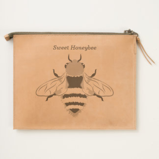 Honey Bee Graphic Personalized Travel Pouch