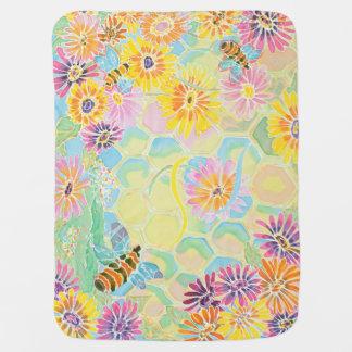 Honey Bee Happy! baby blanket by M. Nicole van Dam