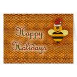 Honey bee happy holidays honey bee apiary buzz cards