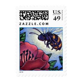 Honey Bee & Hibiscus Flower Beekeepers STAMPS