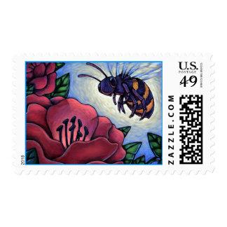 Honey Bee & Hibiscus Flower Match INVITE STAMPS