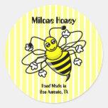 Honey Bee Honey Label Sticker