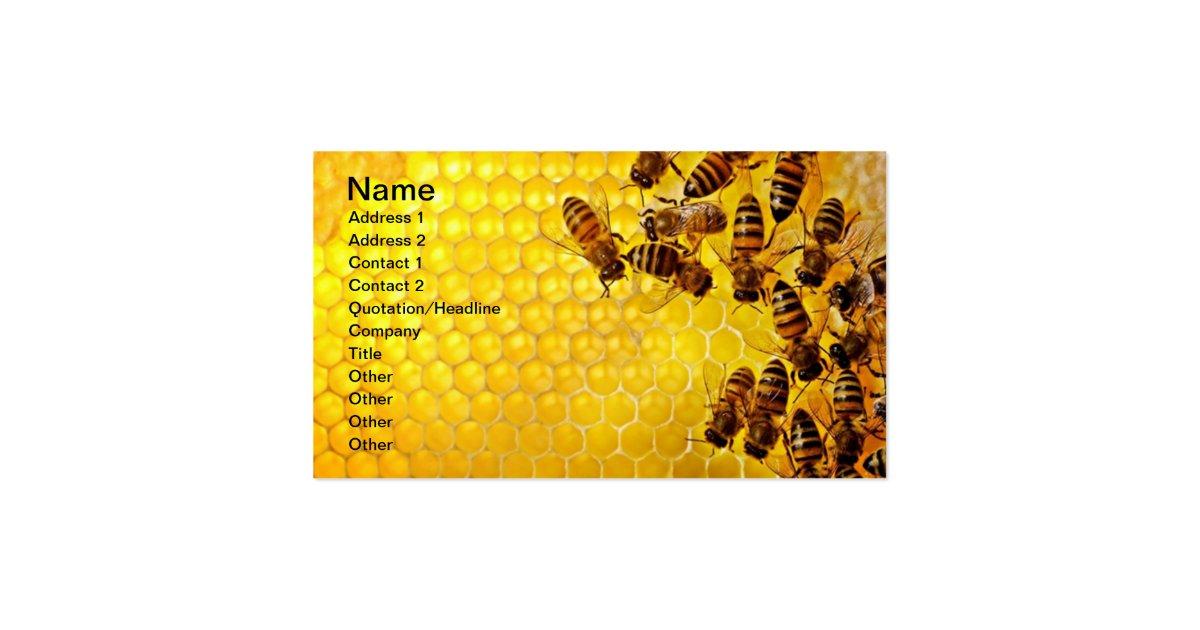 Honey bee honey seller beekeeper apiarist business card for Bee business cards
