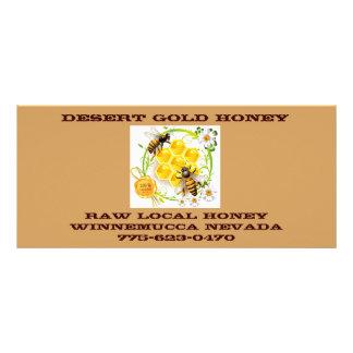 Honey Bee Honey Seller Beekeeper Apiarist Custom Rack Card