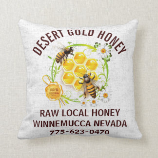 Honey Bee Honey Seller Beekeeper Apiarist Custom Throw Pillow