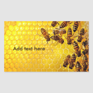 Honey Bee Honey Seller Beekeeper Apiarist Rectangular Sticker