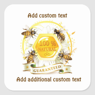 Honey Bee Honey Seller Beekeeper Apiarist Square Sticker