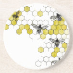 "Honey Bee Honeycomb Coasters<br><div class=""desc"">Vibrant honeycomb holds five honeybees. Perfect for the honeybee lover or bee keeper in your life.</div>"