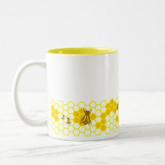 Honey Bee Honeycomb Custom Coffee Mug