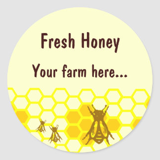 Honey Bee Honeycomb Custom Jar Label Stickers