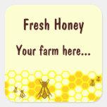 Honey Bee Honeycomb Custom Jar Label Stickers