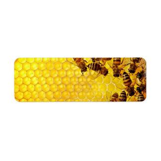 Honey Bee Honeycomb Custom Labels Custom Return Address Labels