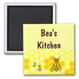 Honey Bee Honeycomb Custom Magnet