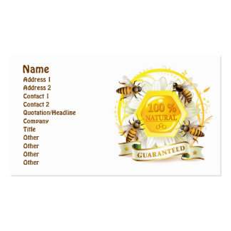 Honey Bee Honeycomb Floral Double-Sided Standard Business Cards (Pack Of 100)