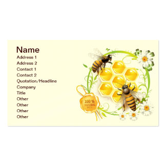 Honey Bee Honeycomb Floral Business Card