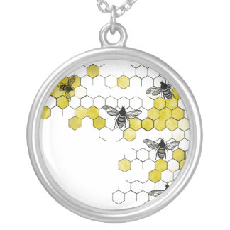 Honey Bee Honeycomb Necklace