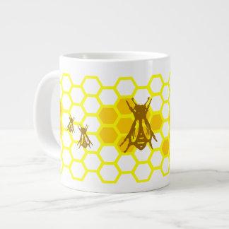 Honey Bee Honeycomb Pattern Mug