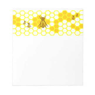 Honey Bee Honeycomb Pattern Notepad