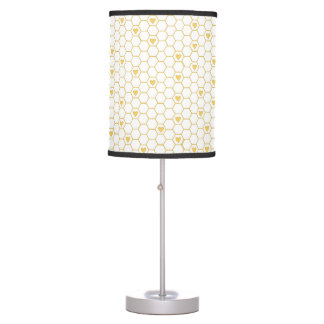 Honey Bee Honeycomb Table Lamp