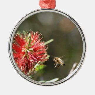 HONEY BEE HOVERING RURAL QUEENSLAND AUSTRALIA METAL ORNAMENT