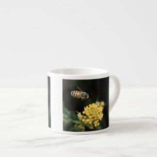 honey bee in flight espresso cup