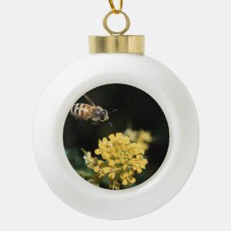 honey bee in flight ornament