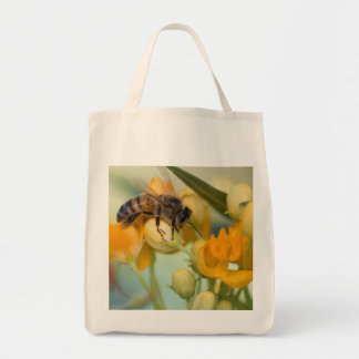 Honey Bee in the spring tote bag