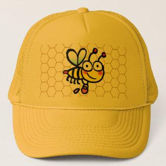 honey bee keeper trucker hat